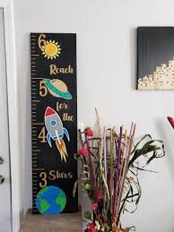 Parakeet Growth Chart Space Growth Chart Wood Growth Chart Baby Shower Gift Nursery Kids Height Ruler Mini Growth Chart Personalized Growth Chart