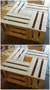 pallet crate furniture. Pallet Crate Coffee Table With - Inspired Wood Projects\u2026 Furniture