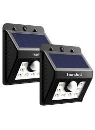8 led solar light motion sensor garden security india