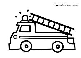 Camion De Pompier Coloriages Des Transports