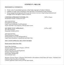 Real Estate Appraiser Resume Cool 48 Real Estate Resume Templates To Download For Free Sample Templates