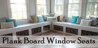 Window Seat Kammys Korner One Of A Kind Window Seats From A Planked Wood Walkway