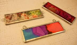 microscope slide pendants