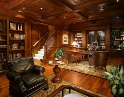home office in basement. Basement Office Designs With Woodwork Home Traditional And Gold Table Lamps In T