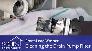 Cleaning Front Load Washing Machine Cleaning The Drain Pump Filter On A Front Load Washer With No