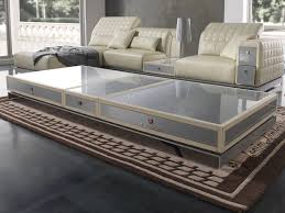 low rectangular alutex coffee table for living room misano coffee table by tonino lamborghini casa