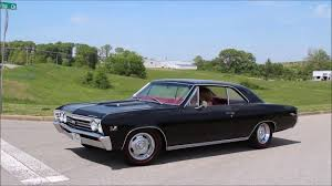 1967 Chevy Chevelle SS 396 Black Red Interior - YouTube