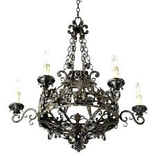 iron works dark bronze wide 6 light chandelier franklin hickory point floor lamp impressive house