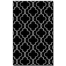 black and white geometric rug. get quotations · 8\u0027 x 10\u0027 ilani geometric black \u0026 off-white overdyed woven wool area and white rug
