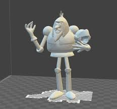 sir lancelot from the 60s toons arthur and the square knights 3d model obj mtl stl