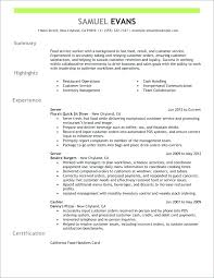 Resume For Fast Food Cashier Fast Resume Template Reluctantfloridian Com
