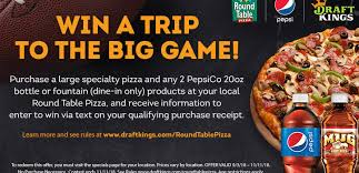 round table pizza to send one lucky fan to the big game with ultimate fantasy