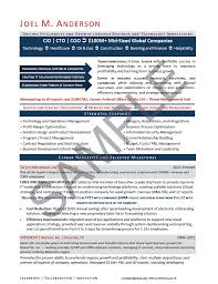 Executive Resume Sample Chief Information Security Officer