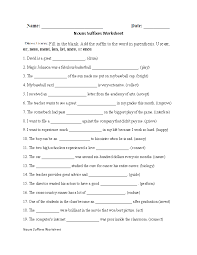 Noun Suffixes Worksheet, fill in the blank, great additional ...