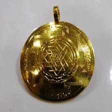 details of siddha accurate copper sri yantra pendent