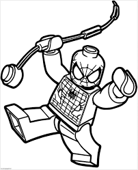 Spiderman Motorcycle Coloring Page Lego Spider Man Coloring Pages