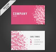 25 Free Pink Business Card Templates Free Printable