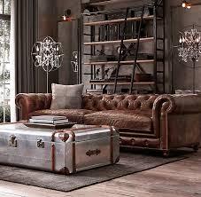restoration hardware leather sofa intended for 76 kensington designs 16