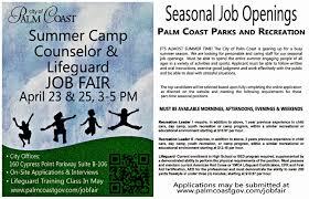 City Of Palm Coast Summer Camp Counselor Lifeguard Job Fair