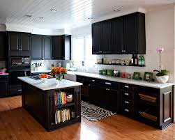 Dark Hardwood Floors In Kitchen Dark Kitchen Cabinets Light Wood Floors Quicuacom