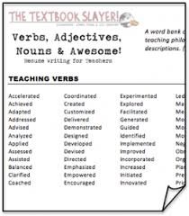 Resume Verbs And Adjectives Adjectives For Resumes Adjectives For