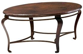 hammered copper drum coffee table awesome marvelous storage ottoman in modern hand