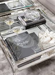 Eichholtz Harvey Square Coffee Table   Stainless Steel