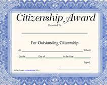 Citizenship Awards Citizenship Printable Certificates
