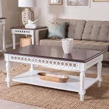 Seagrass Living Room Furniture Furniture White Narrow Coffee Table And Tufted Sectional Sofa