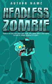 children book cover cartoon scary zombie