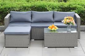 4 seater rattan garden sofa set deal