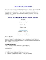Remarkable Housekeeping Resume Sample Objective On Housekeeping Resume  Objective Examples