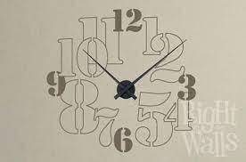 big numbers clock wall decals vinyl
