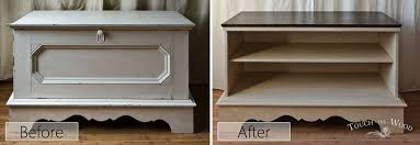 shabby chic vintage trunk chest box makeover to coffee table