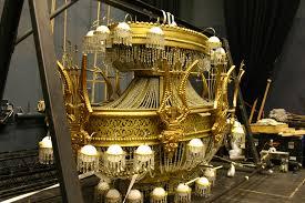 logistics in transport phantom of the opera chandelier