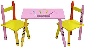 bebe style childrens wooden table and chair set blue b016owyoh2