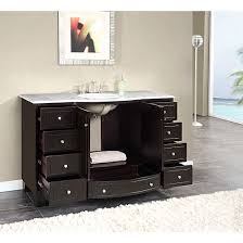 Bathroom Single Vanity Silkroad Exclusive Naomi 55 Single Bathroom Vanity Set Reviews
