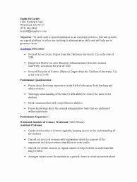 Assistant Professor Sample Resumes 24 Elegant Pics Of Sample Resume Format For Assistant Professor In 4