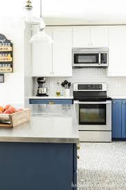 Blue White Two Tone Kitchen Reveal New House Two Tone Kitchen