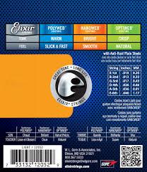 Elixir 12052 Electric Guitar Strings Nanoweb Light 10 46
