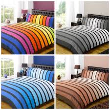 soho striped duvet cover sets bedding for boys mens kids bed 3 colours available 1 of 1free
