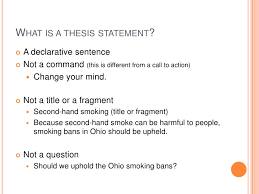 what a thesis statement is and what it isn t