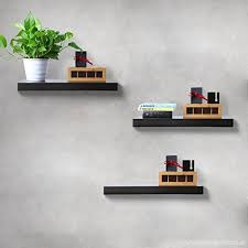 finnhomy floating shelves wall mounted 3 display shelf with bracket for pictures and frames modern home decorative black b0779b7hvr