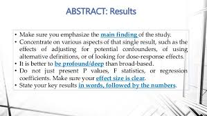 how to write a biomedical research paper 18 abstract results for example
