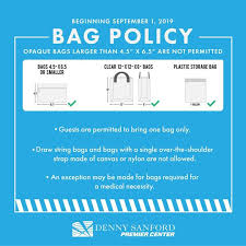 New Bag Restrictions For Denny Sanford Premier Center Events