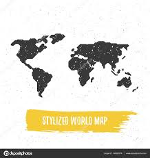Gestileerde Wereldkaart Stockvector Goodgraphic 149323074