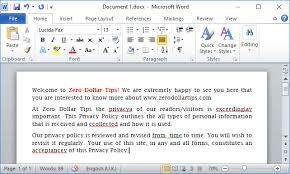 Word In Red How To Remove Red Underline In Word 2013 2010 2007