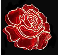 new flower red rose wall decor bar pub man cave neon light sign 20 x16
