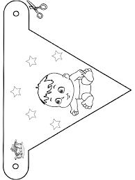 Baby Vlaggetje 4 Kleurplaten Baby