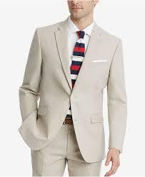 Mens Modern Fit Flex Stretch Tan Suit Jacket